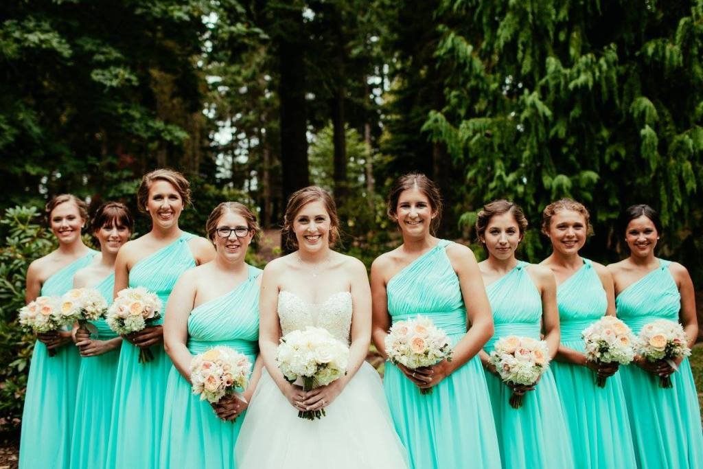 Bride & Bridesmaids, University of Puget Sound, Tacoma Wedding Planner