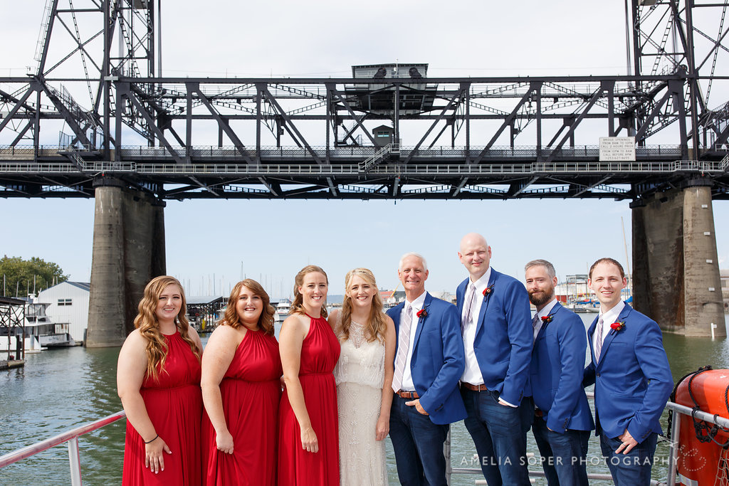 Foss Waterway Seaport Wedding Party