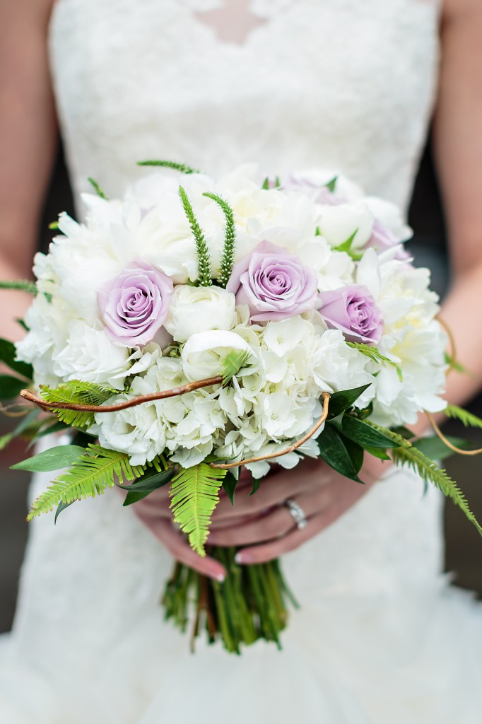 Peony, hydrangea, ranunculus, rose, and greenery bouquet by Jen's Blossoms