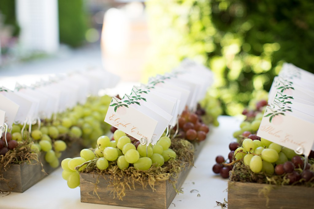Escort Card Boxes of Moss & Grapes at Laurel Creek Manor