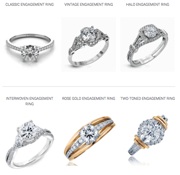 Click The Engagement Rings Below To View Our Galleries Of