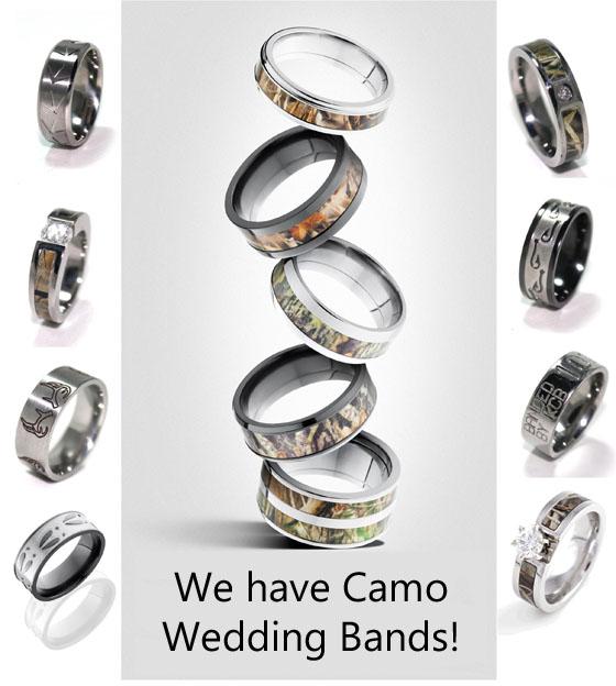 Camouflage Wedding Rings Huge Selection of Camo Wedding Rings
