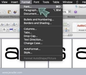 format-font