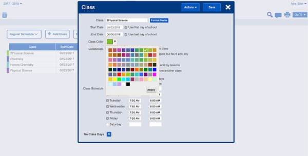 customize your lesson plans with color