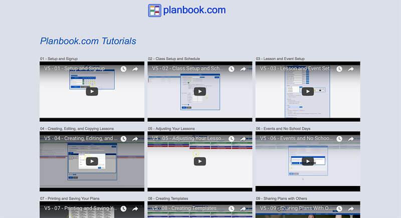 tutorials for planbook.com