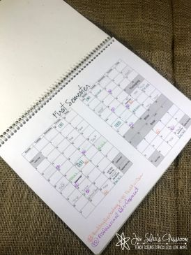 calendar in box format