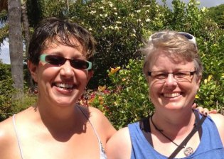 Jen and Jennifer Brownell on writing retreat in Maui, HI