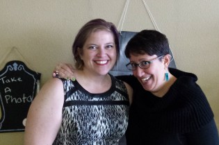 Kelly Wilson and Jen at Kelly's Book Launch, Milwaukie, OR