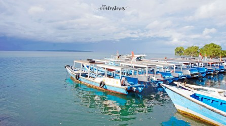 The small boat that will take you to NusaBay Menjangan