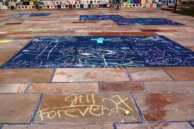Oklahoma City Bombing Memorial Chalk Drawing