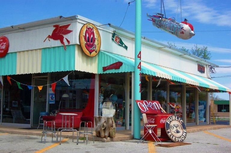 Pegasus Sign at Retro Junk Store