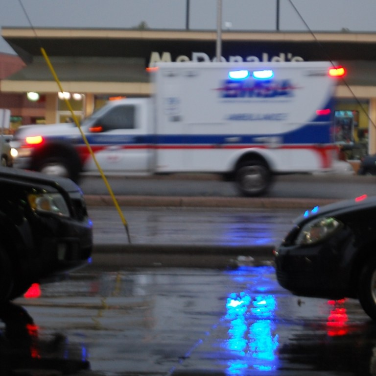 Ambulance in Rain