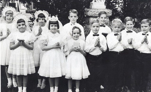 Beautiful children at their First Communion Photo at an orphanage 1970
