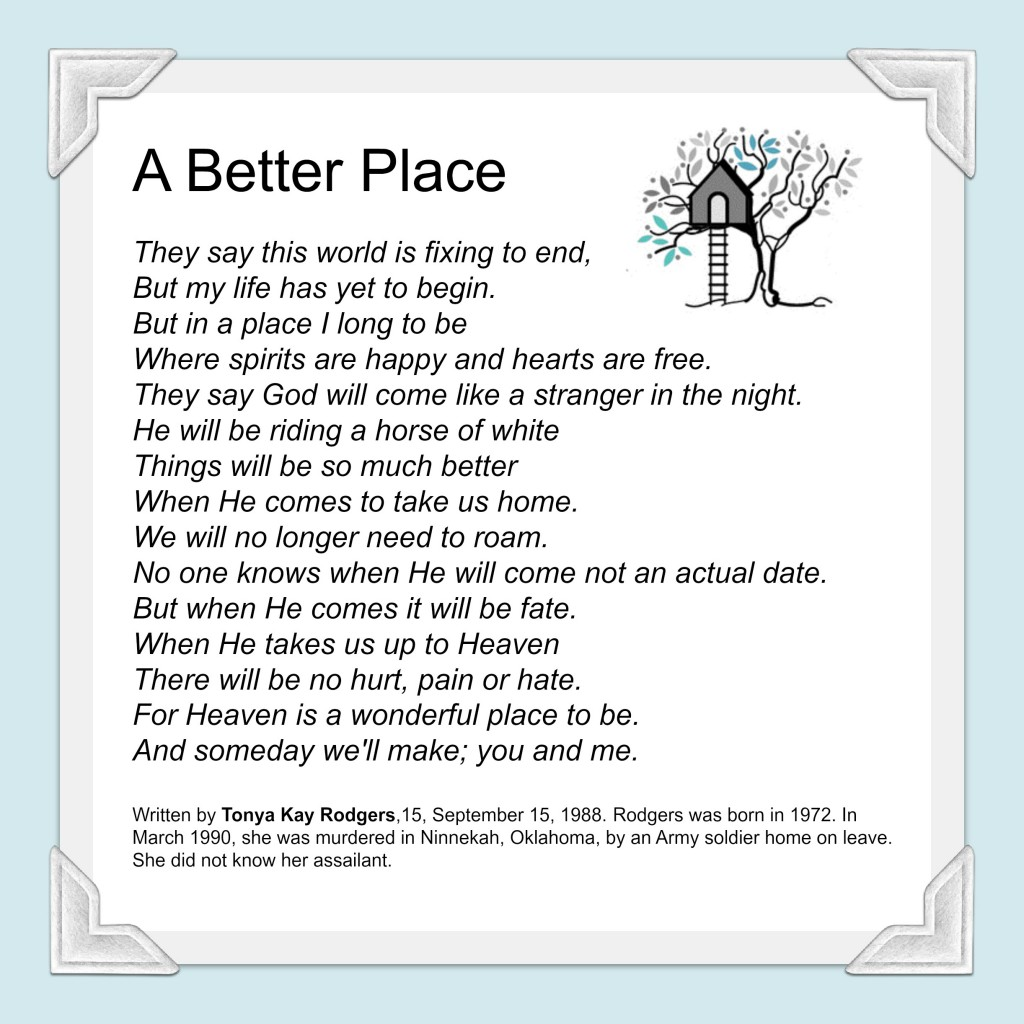 A Better Place By Tonya Rodgers