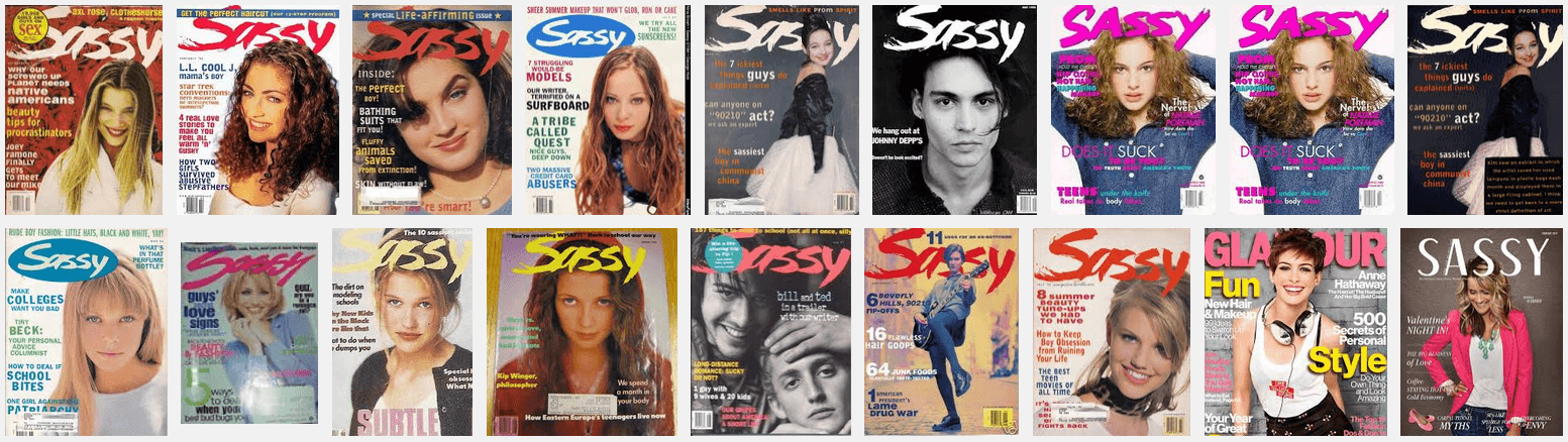Sassy Magazine Covers