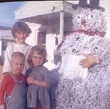 Tumbleweed Snowman or Life on 411 C Street South | Kermit, Texas | 1960s