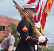 U.S. Marines in Parade