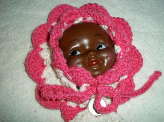Black doll face potholder