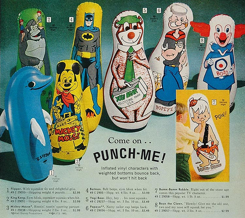 Cartoon Bop Bags Punching Bags