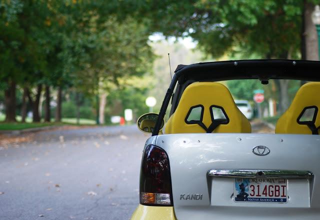 Kandi's Yellow Car
