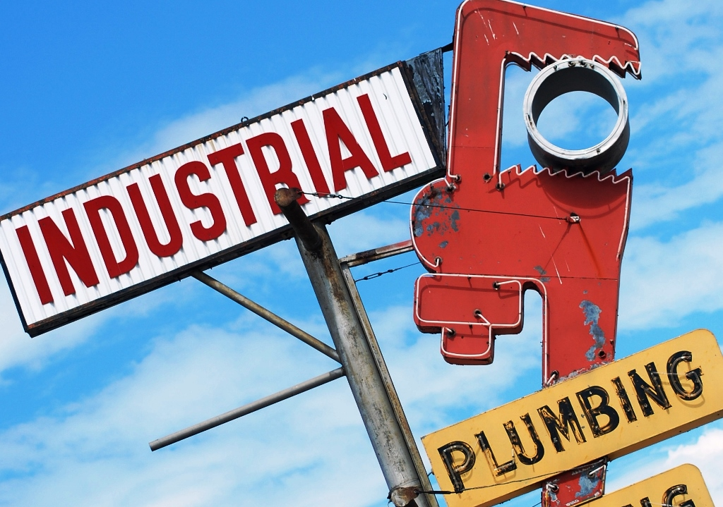 Cool Old Sign Plumber's Retro Sign