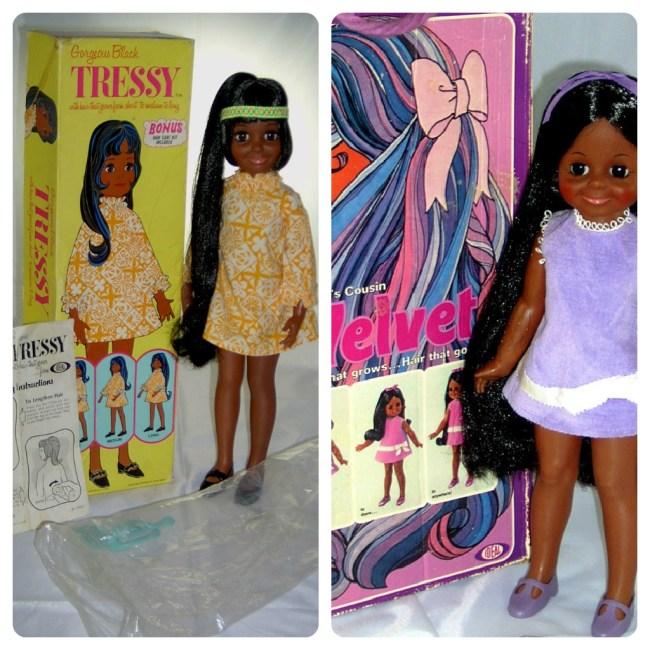 Black Crissy and Black Velvet