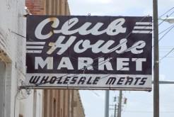 club house market Vintage Sign
