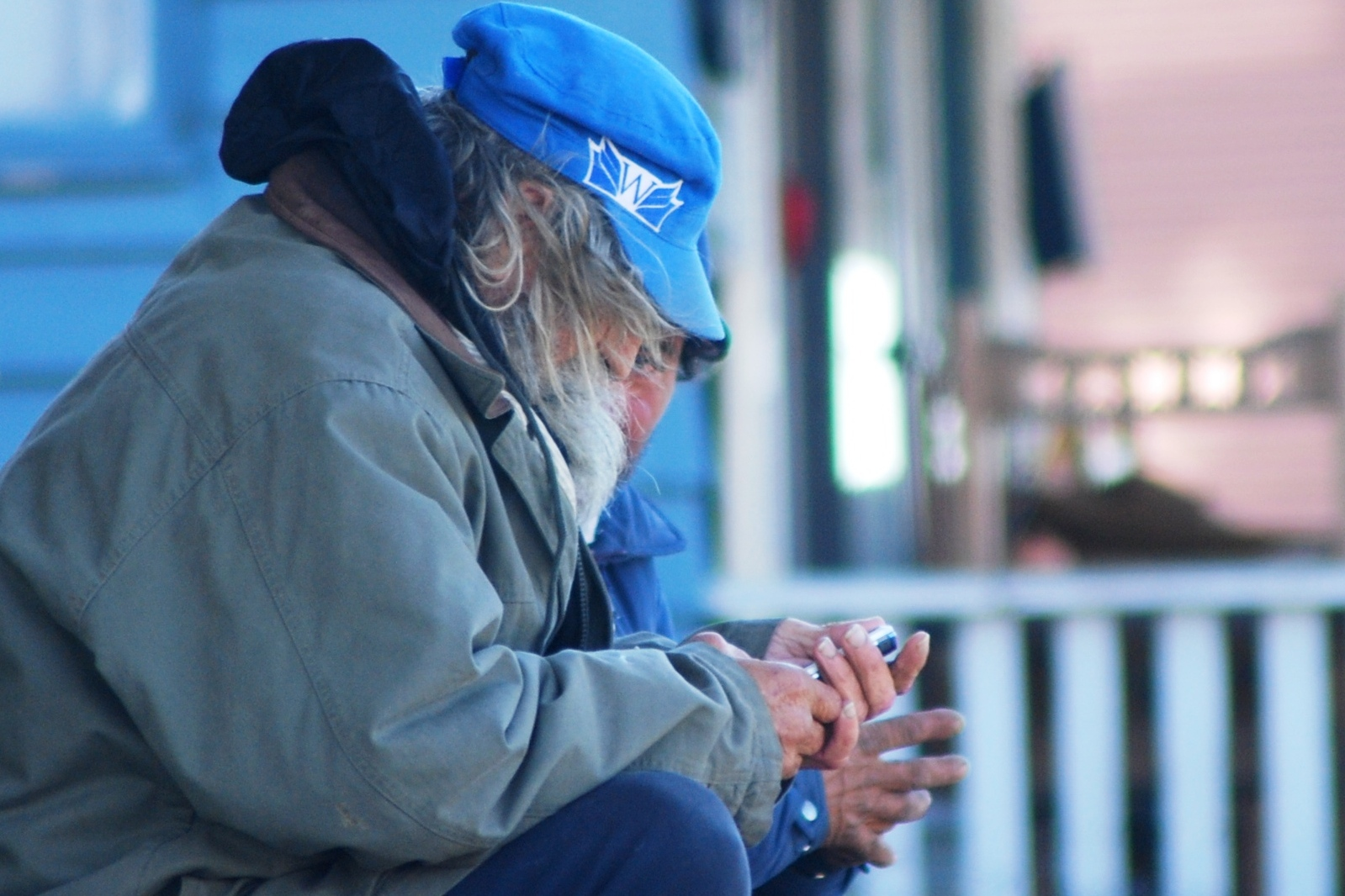 Homeless Texting