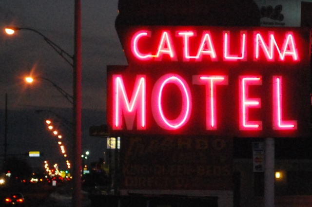 Catalina Motel in Pink Neon
