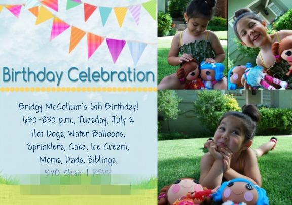Lalaloopsy Party Invitation