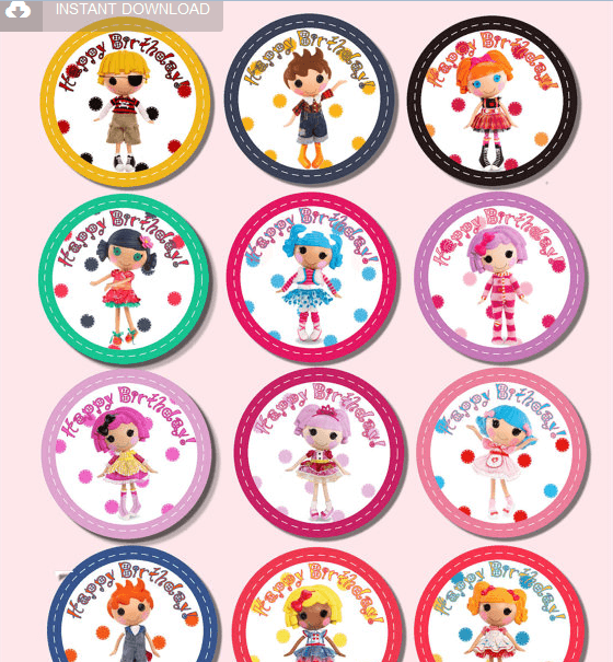 Lalaloopsy Cupcake Toppers from SushiDolli
