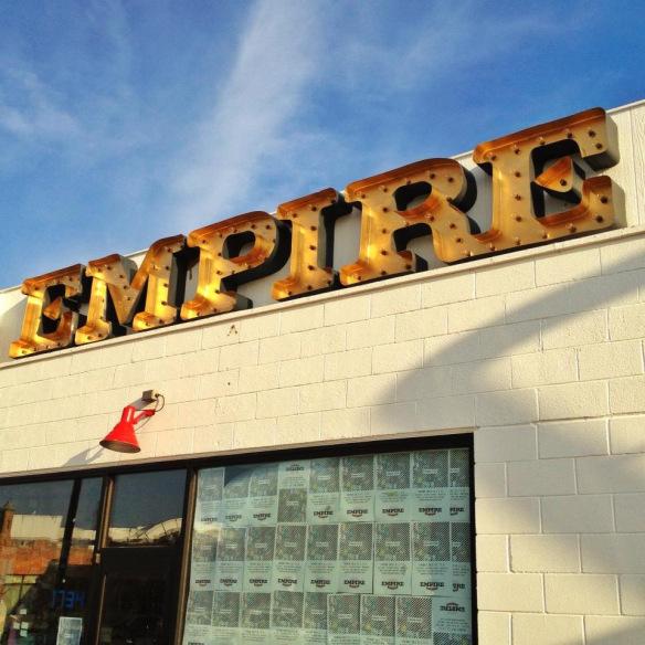 Empire Slice Pizza Sign in the Plaza District