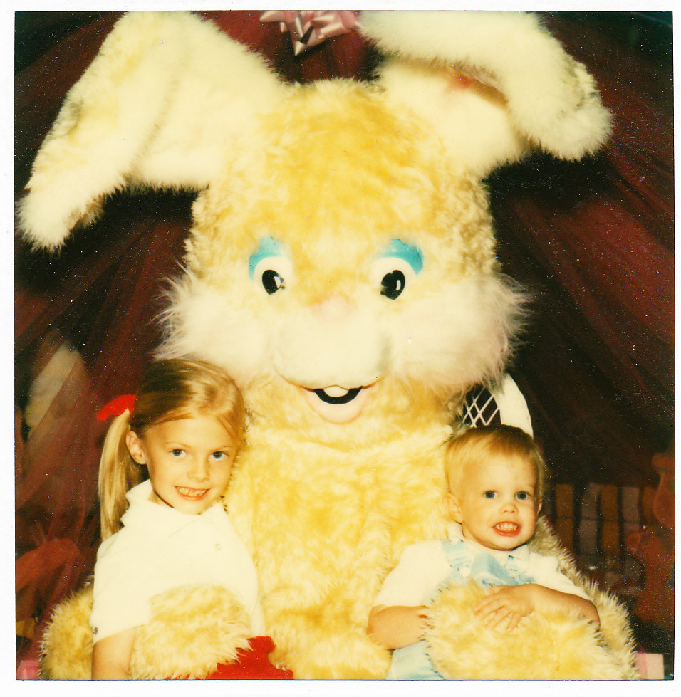 yellow easter bunny scary