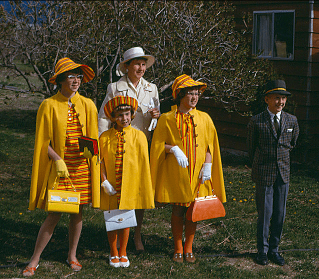 Easter 1968 Matching Outfits