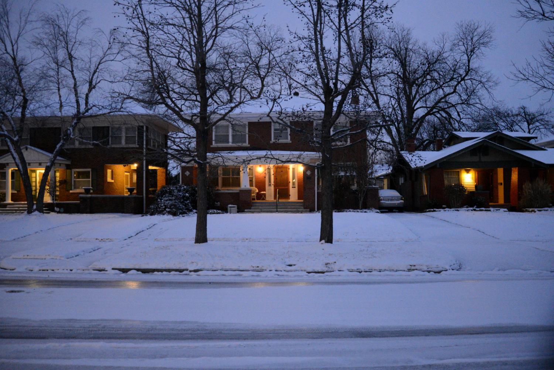 Historic Homes Snowfall