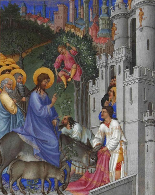 Jesus Rides a Donkey into Jerusalem