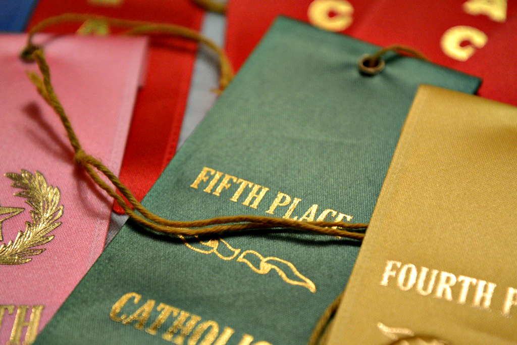 Green Fifth Place Track Ribbon