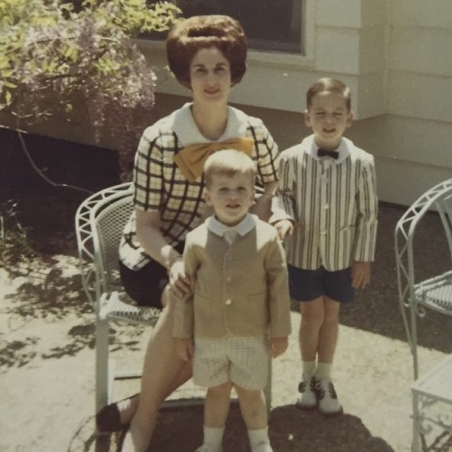 1960s short pantas and bow ties on boys