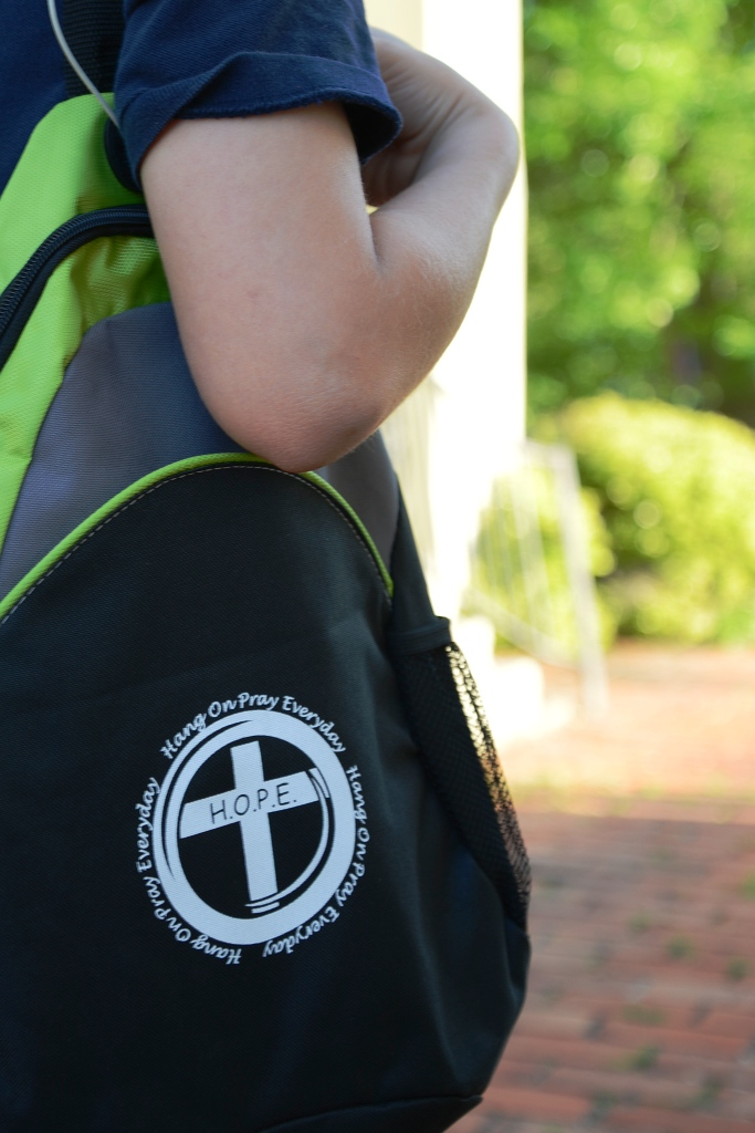 Backpack with Hope Logo