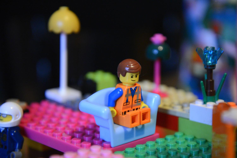 Lego Watching TV