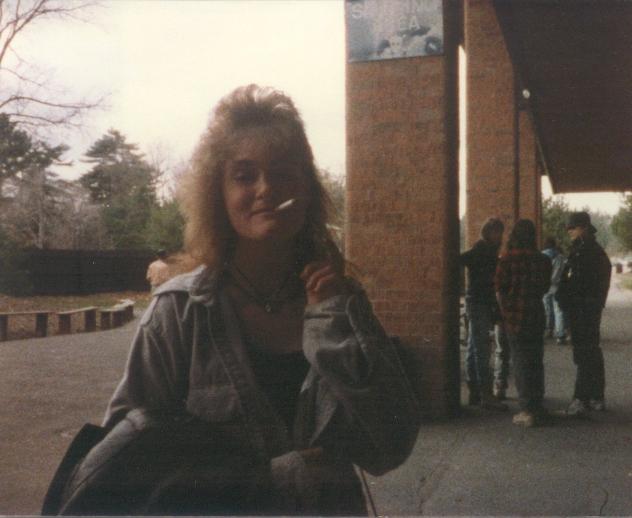 School Smoking Area 1980s