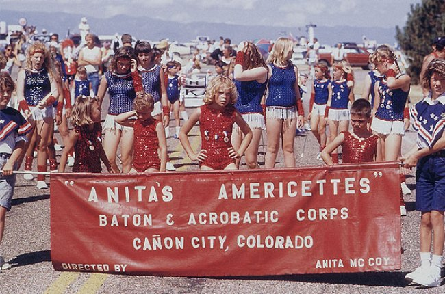 Fourth of July Parade 1976 Americettes Baton Twirlers