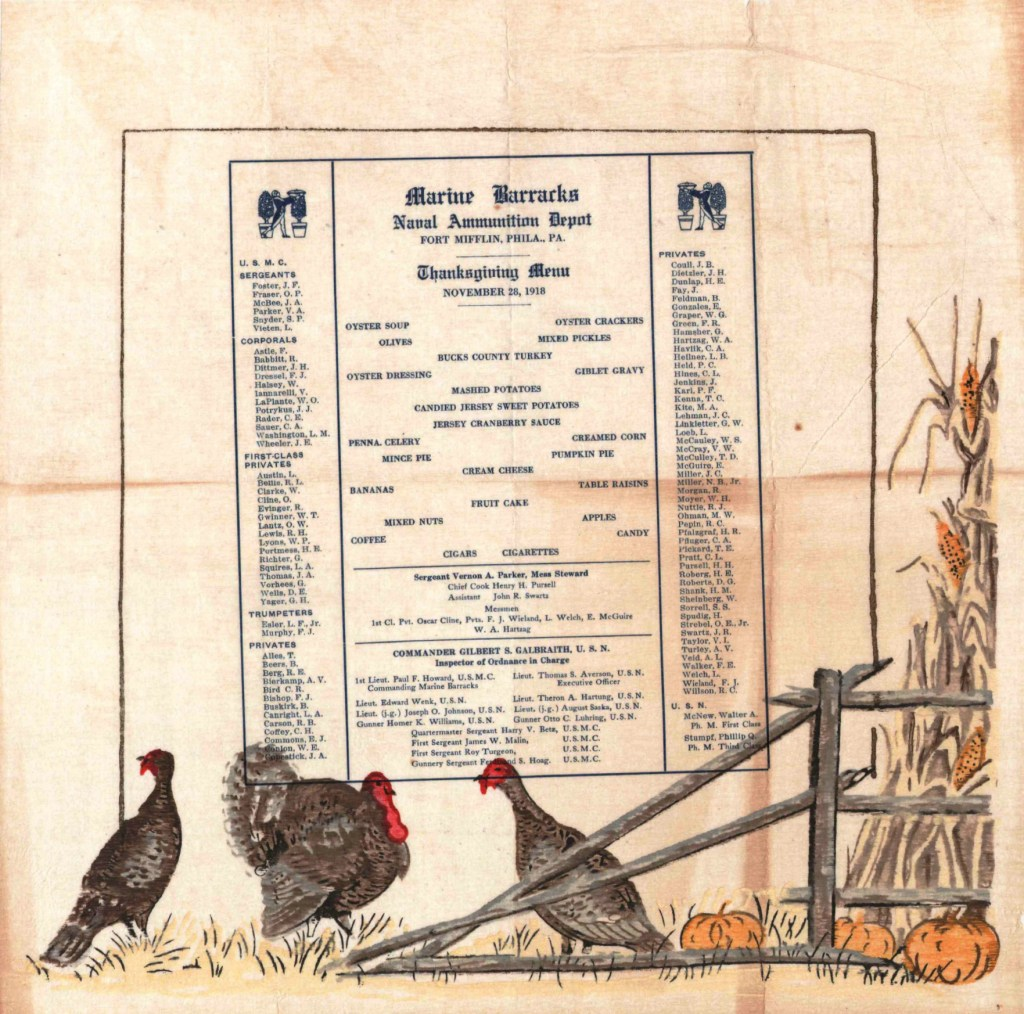 Marine Barracks Thanksgiving 1918