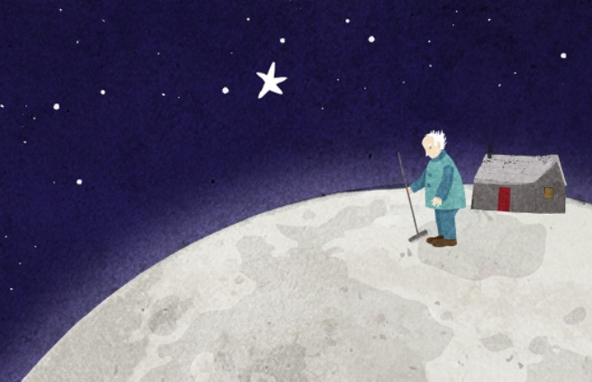 old man on the moon