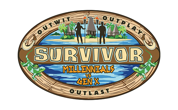 The Great indoors and Survivor: Millennials vs Gen X feature Generation X themes