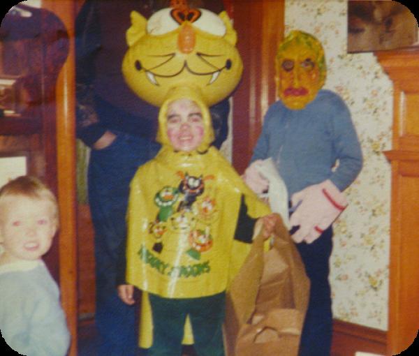 Kooky Spooks 1980s Inflatable Head Halloween Costume