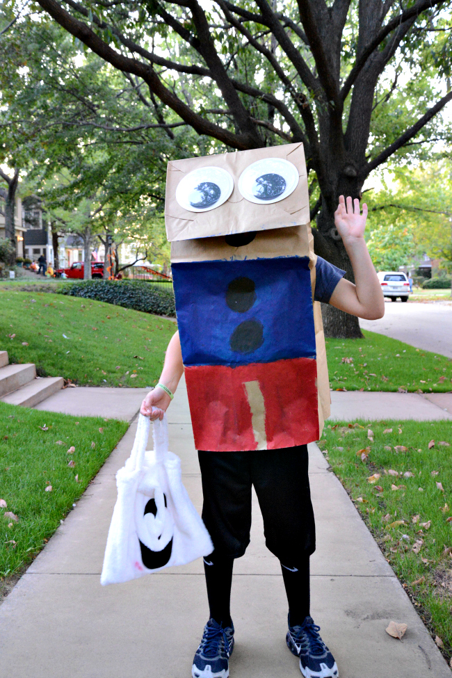 Paper Bag Puppet Costume