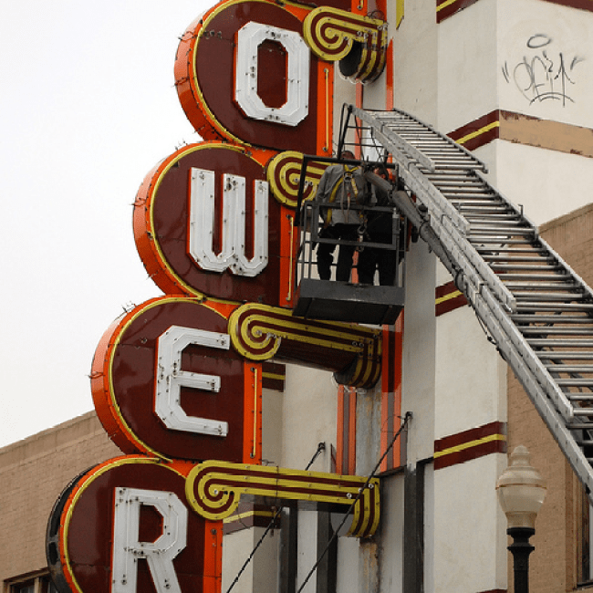 Tower Theater Neon Sign OKC