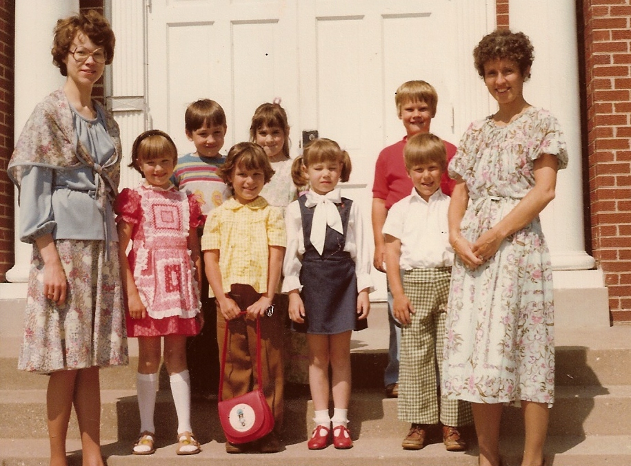 Children Dressed For Church in 1979
