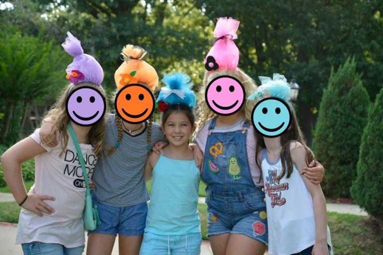 trolls birthday party hats